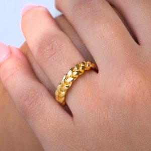 Wedding braided ring 4mm